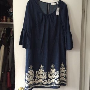 Brand new blue with white stitching dress!